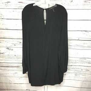 BCBG Maxazria cut out neckline dress size Largr